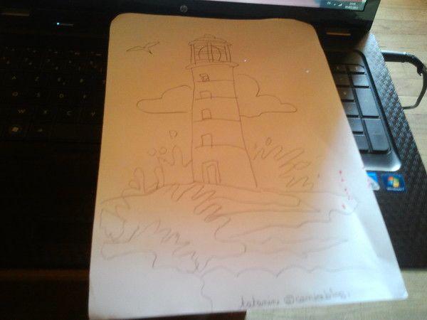 dessin sur la mer
