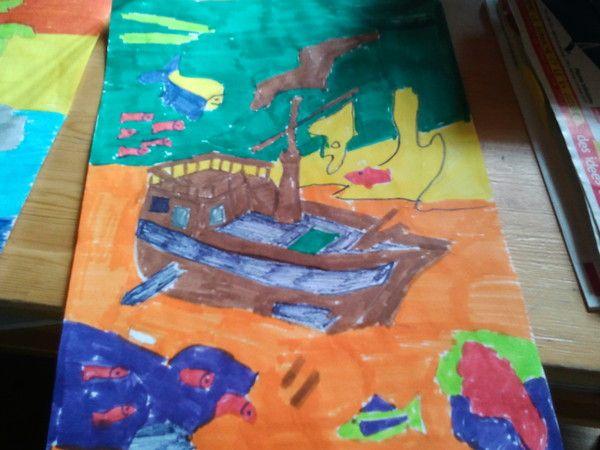 voici un dessin sur la mer