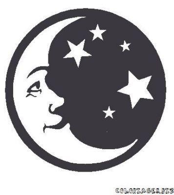 Au clair de la lune - Dessin de lune et soleil ...