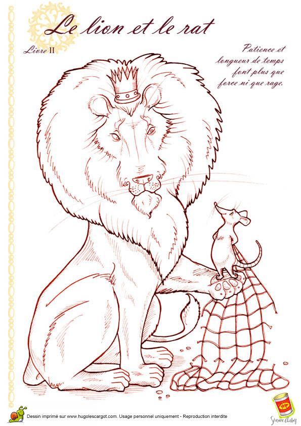 Bienvenue chez tatanini - Image le lion et le rat ...